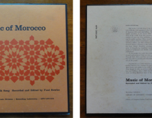 """A Moroccan Anthology of Ears Preservation"" – a research project on Paul Bowles' Moroccan music collection and the politics of cultural preservation"