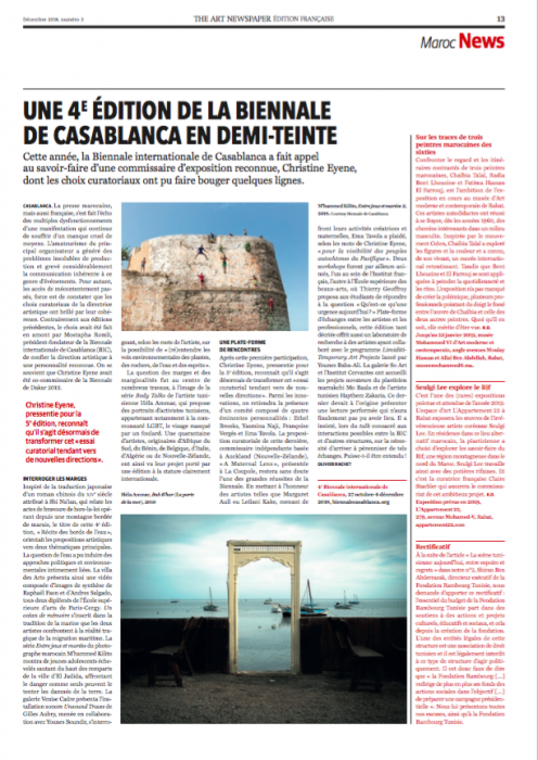 article Biennale-rachet-art-newspaper